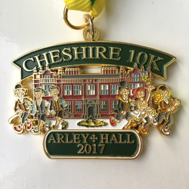 Cheshire 10K 2017 Medal