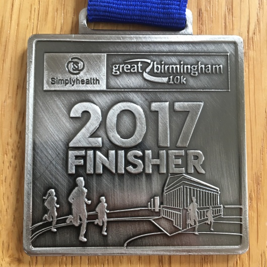 Run Medal - Great Birmingham 10K 2017