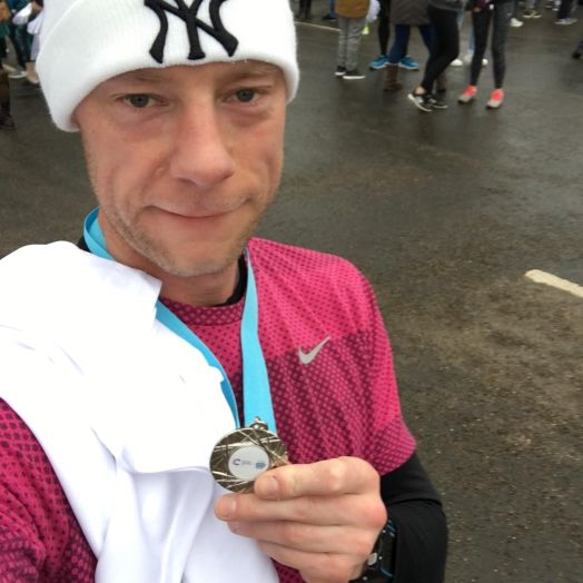 Mark - Cancer Research Winter Run Medal